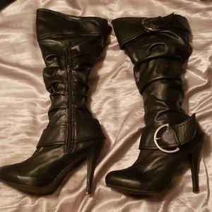 mid thigh scrunch boots